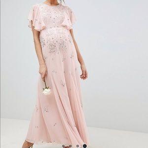 ASOS maternity embellished dress